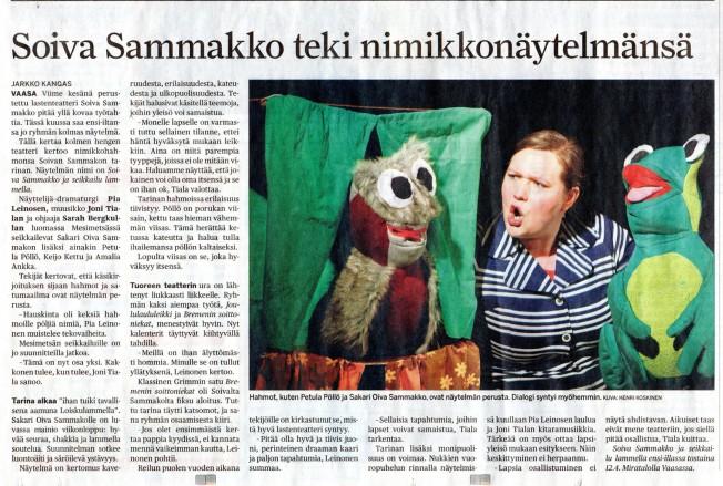 Soiva Sammakko teki nimikkonäytelmänsä - Jarkko Kangas - Pohjalainen - 06042012011